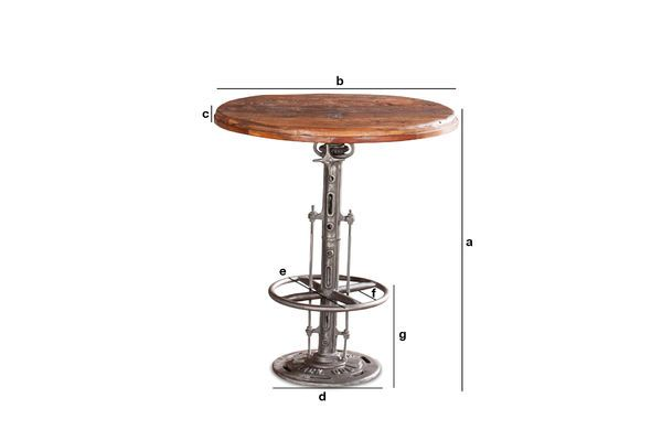 Product Dimensions Adjustable teak bistro table Salvage