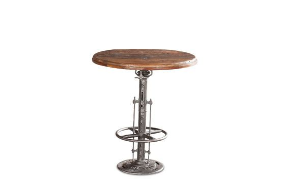 Adjustable teak bistro table Salvage Clipped