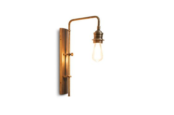 Adjustable wall lamp in Lerwick brass Clipped