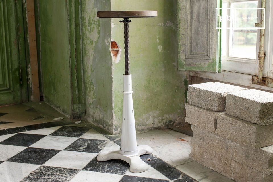 An adjustable tailor's stool, a redesigned classic design