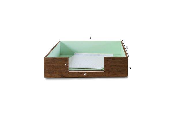 Product Dimensions Akuagronn document storage box