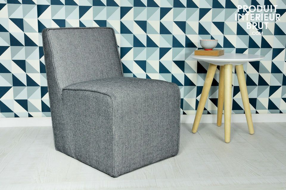 Alborg grey fabric chair