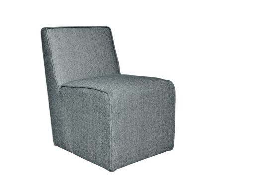 Alborg grey fabric chair Clipped
