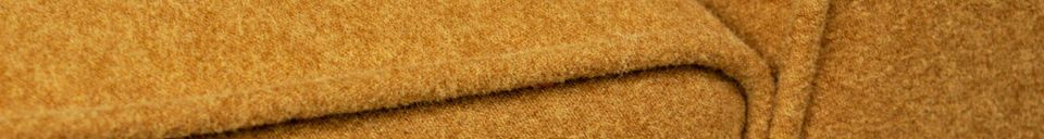 Material Details Alborg ochre baize chair