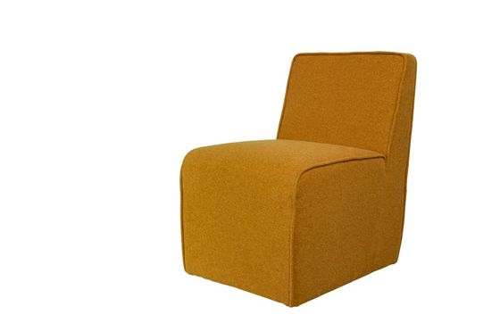 Alborg ochre baize chair Clipped