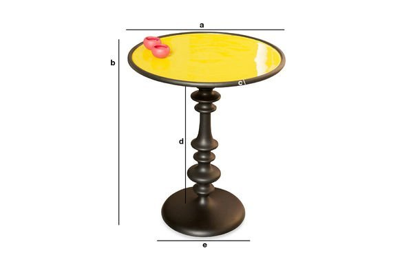 Product Dimensions Alice yellow side table