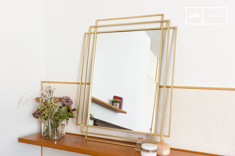 A large rectangular mirror inspired by art deco