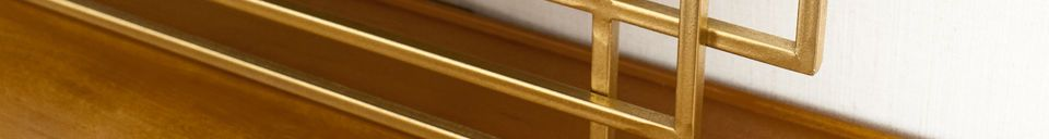 Material Details Alma golden mirror