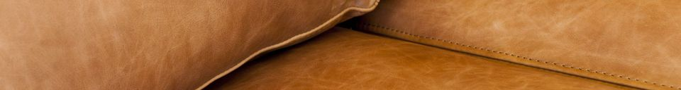 Material Details Almond 3-seater sofa brown
