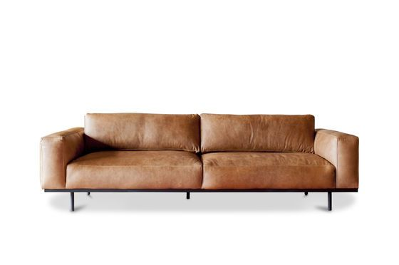 Almond 3-seater sofa brown Clipped