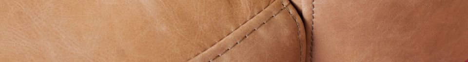 Material Details Almond armchair in brown leather
