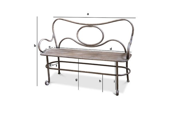 Product Dimensions Alouette small bench