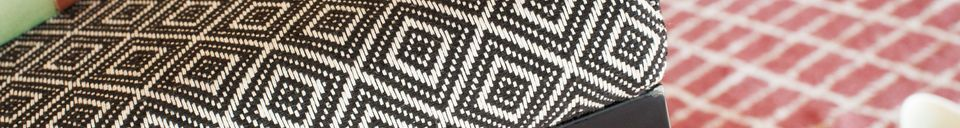 Material Details Ambroise black-white chair