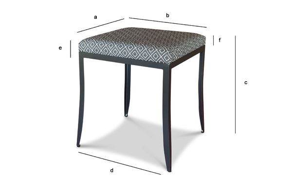 Product Dimensions Ambroise black-white chair