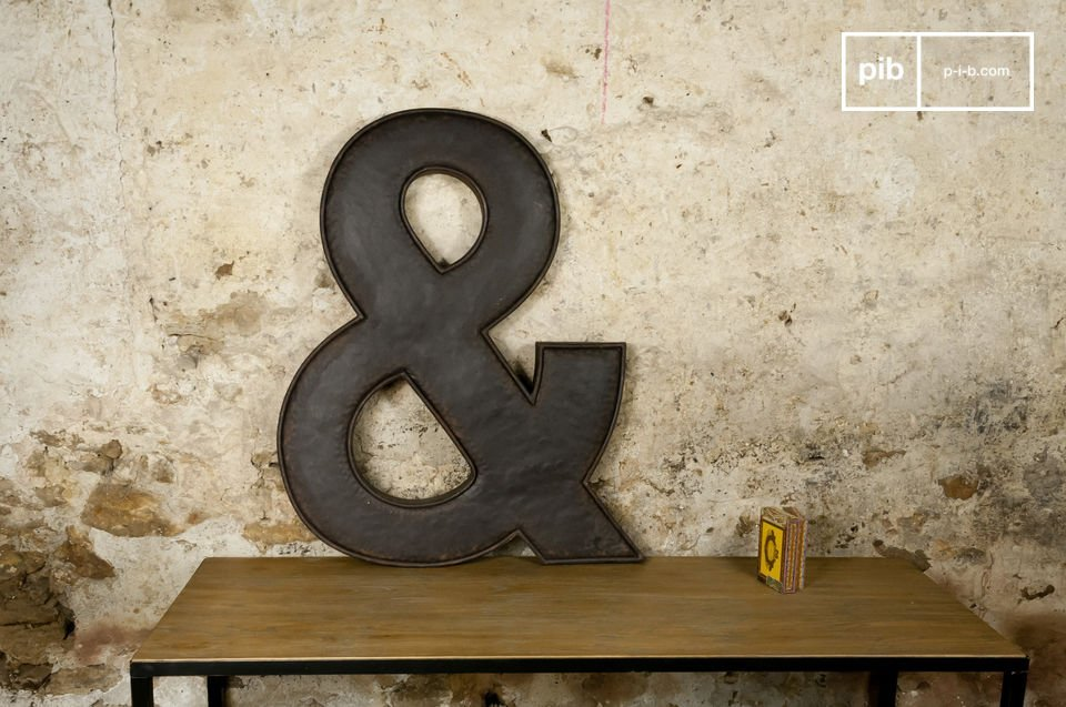 Decorative letter that is almost a metre high