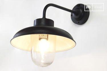 Angled wall lamp