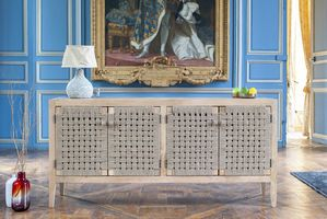 Annika wooden and rope sideboard