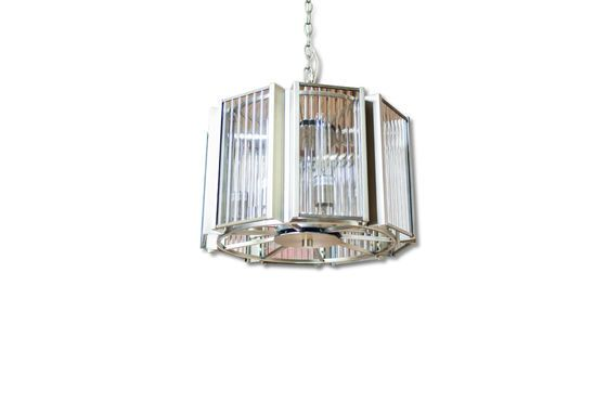 Antibes glass and brass chandelier Clipped