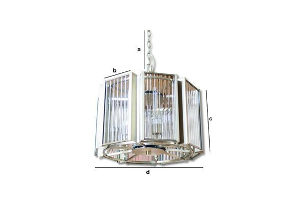 Product Dimensions Antibes glass and brass chandelier
