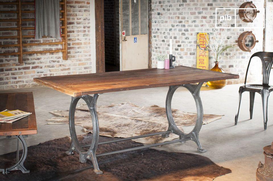 Antique teak table Tonnel