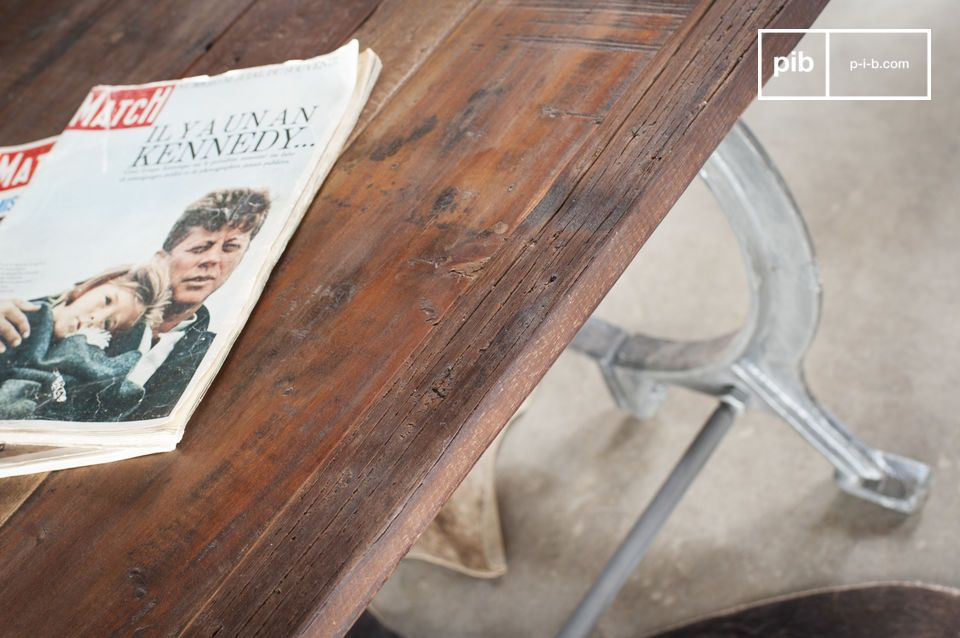 Antique teak charm and pure industrial flair