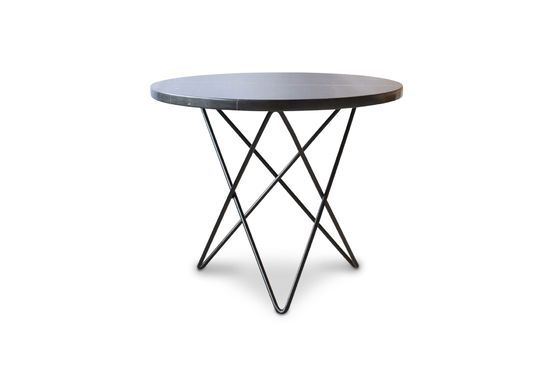 Aouthenn side table in black marble Clipped