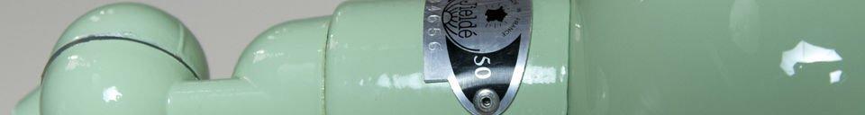 Material Details Applique Jieldé Signal vert d'eau