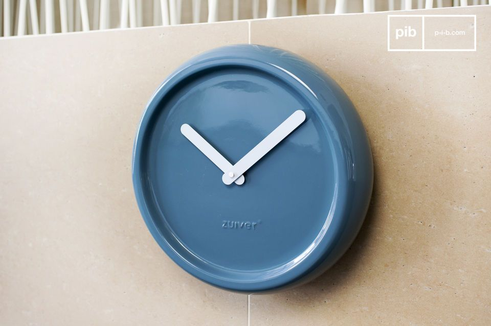 Nice blue wall clock.