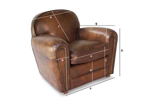 Product Dimensions Armchair English coffee