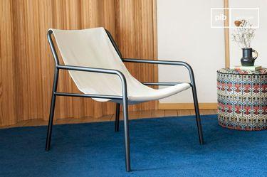 Armchair in suspended canvas Côte d'Azur