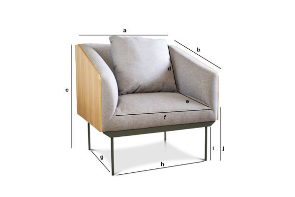 Product Dimensions Armchair Jackson