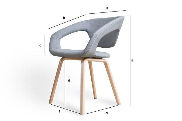 Product Dimensions Armchair Light Tobago