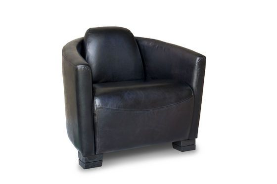Armchair red baron black Clipped