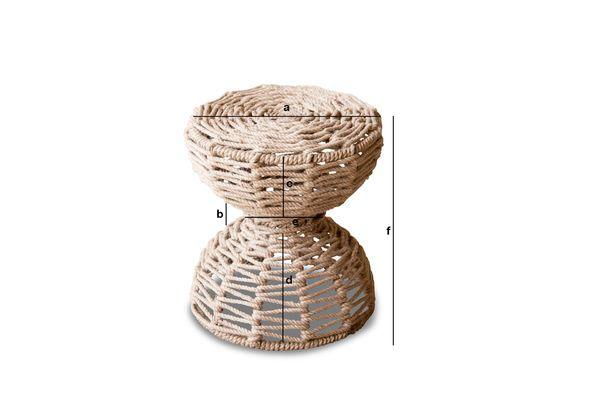 Product Dimensions Arpillera stool