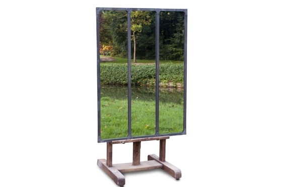 Atelier mirror with metal frame Clipped
