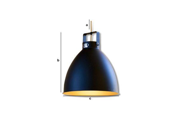 Product Dimensions Augustin Jieldé hanging lamp