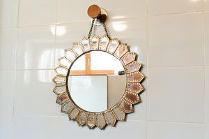 Aurinko Brass Mirror