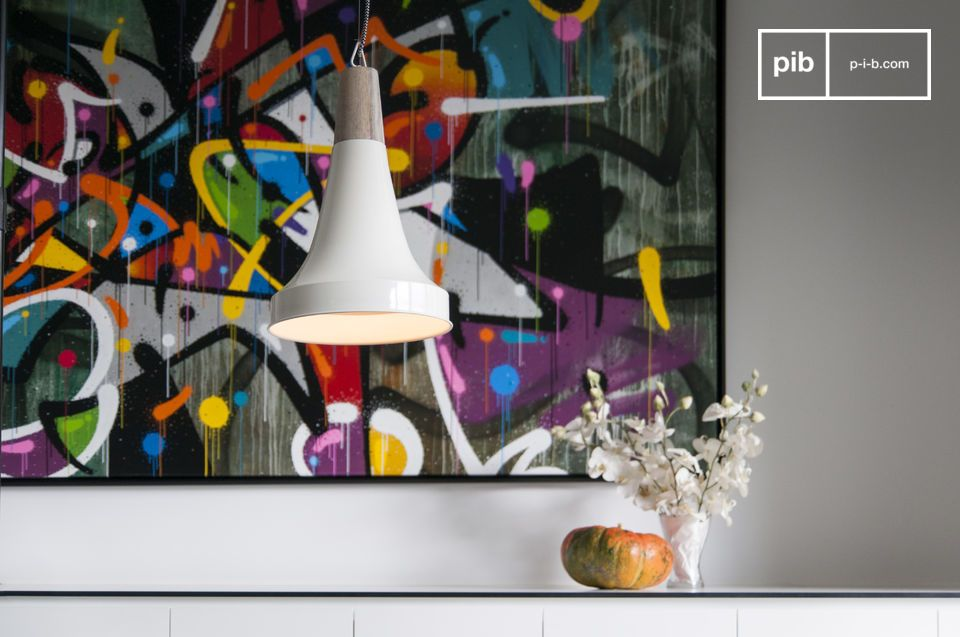 A bright bell-shaped pendant light for a Scandinavian touch