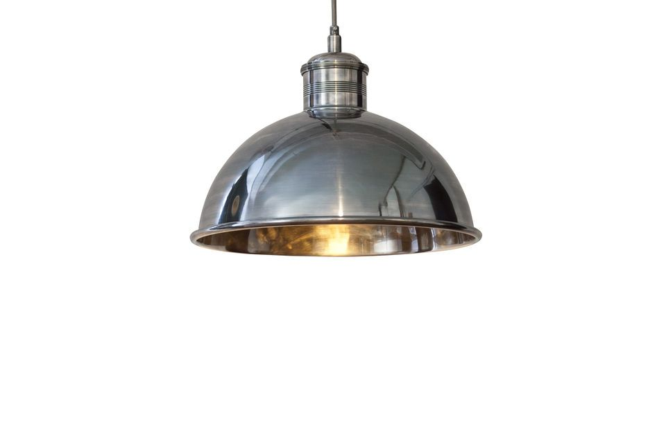 Superb retro-chic 40cm diameter suspension light
