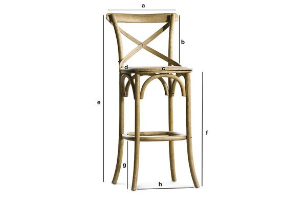 Product Dimensions Bar chair Pampelune