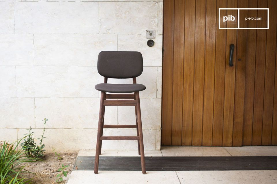 Solid, durable, stylish and comfortable bar seat.