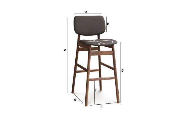 Product Dimensions Bar chair Rainssön