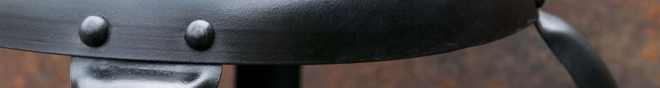 Material Details Bar chair with black rivets
