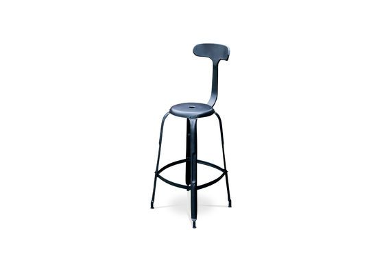 Bar chair with black rivets Clipped