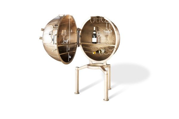 Product Dimensions Bar Globe Jules Vernes