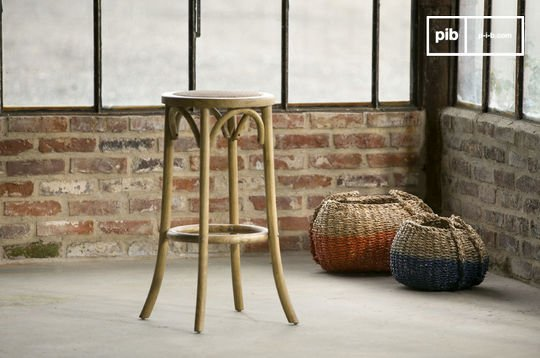 Bar stool Pampelune with natural finish