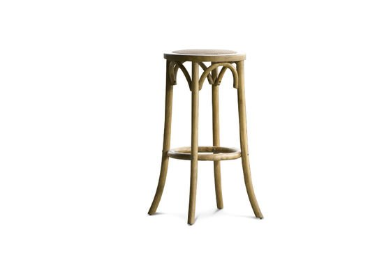 Bar stool Pampelune with natural finish Clipped