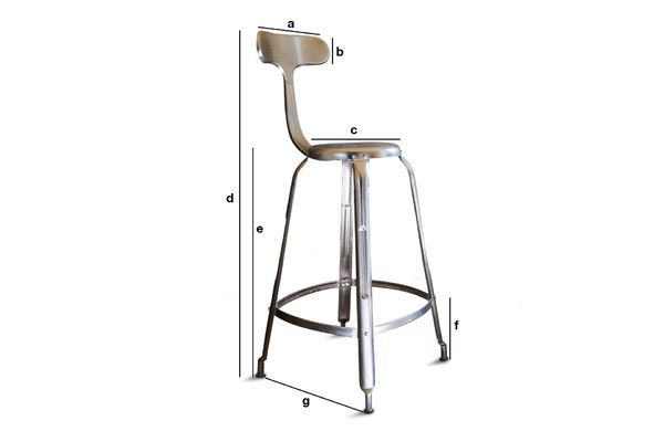 Product Dimensions Bar stool with rivets
