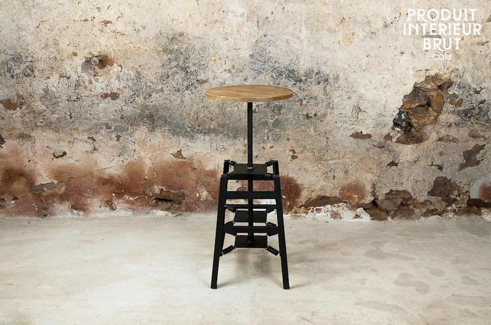 A stool with the seat mounted on springs