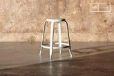 Bar stool with white rivets 60cm